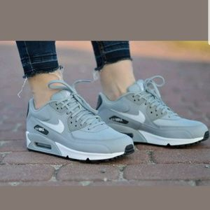 hot sale online 4e1e2 88d2e Nike Shoes - Nike Air Max 90 Dark Wolf Grey White Shoes